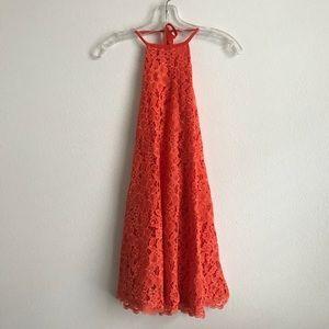 09b8c1d4cae NBD Dresses - Revolve NBD Floral Lace Orange Halter Dress